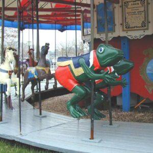 Spillman 1905 Carousel, Merry-Go-Round Frog Figure